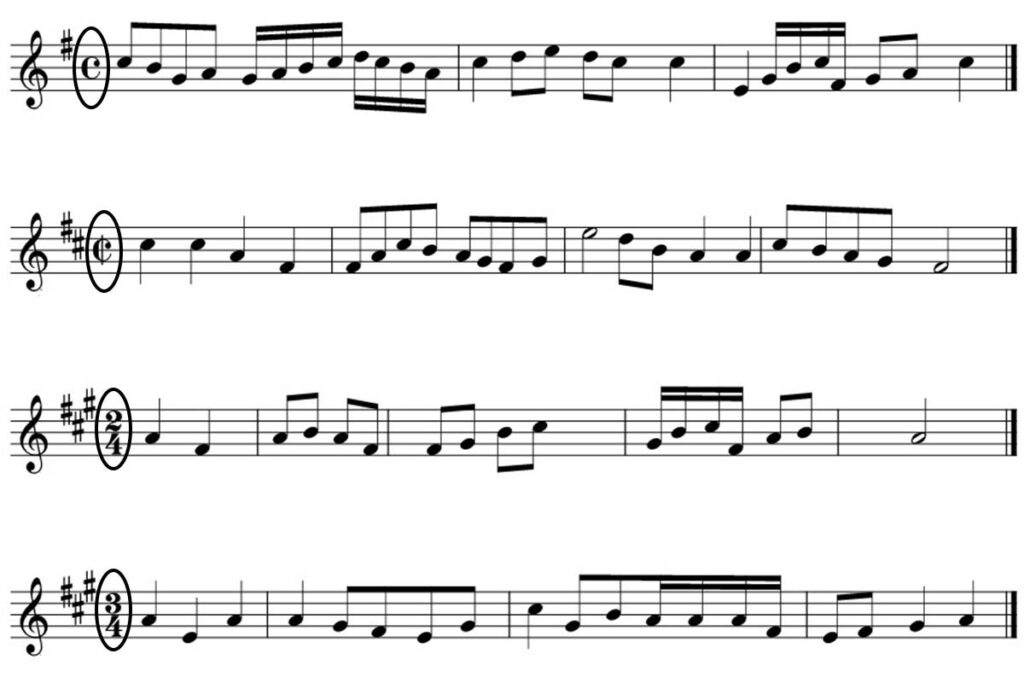 Time Signature In Musical Notation